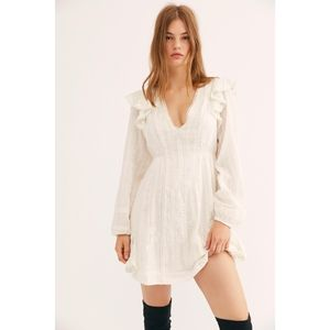 Free People Isabella Mini Dress Off-white Size 10